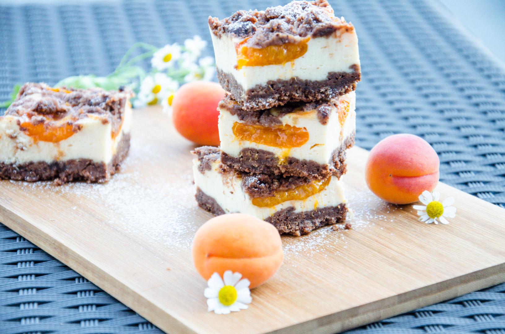 Schokolade Marillen Streuselkuchen Aprikosen Baking Barbarine