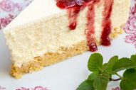 New York Cheesecake mit Cornflakes-Amaranth Boden