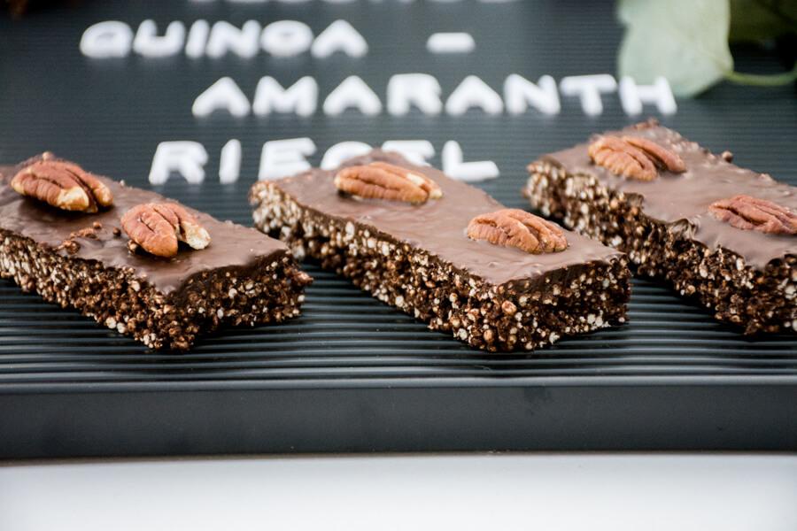 Gesunde Quinoa Amaranth Riegel Glutenfrei Baking Barbarine